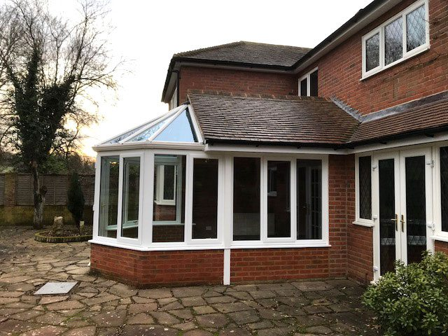 Conservatory in Cliddesden After
